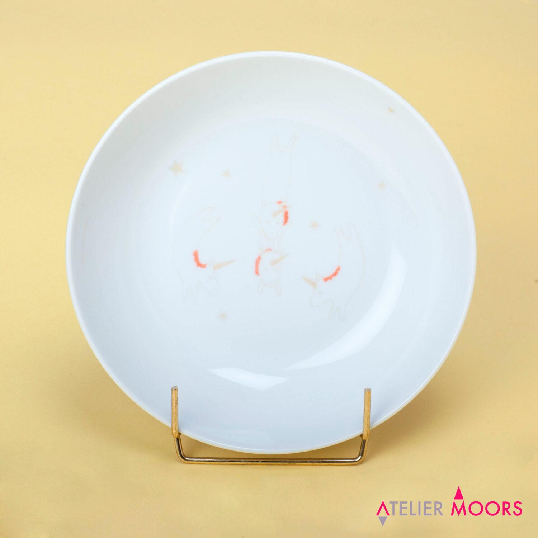assiette porcelaine licorne circus atelier moors
