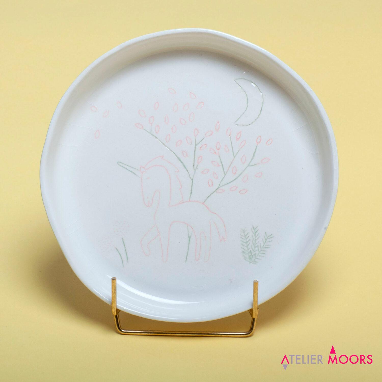 assiette faience licorne atelier moors