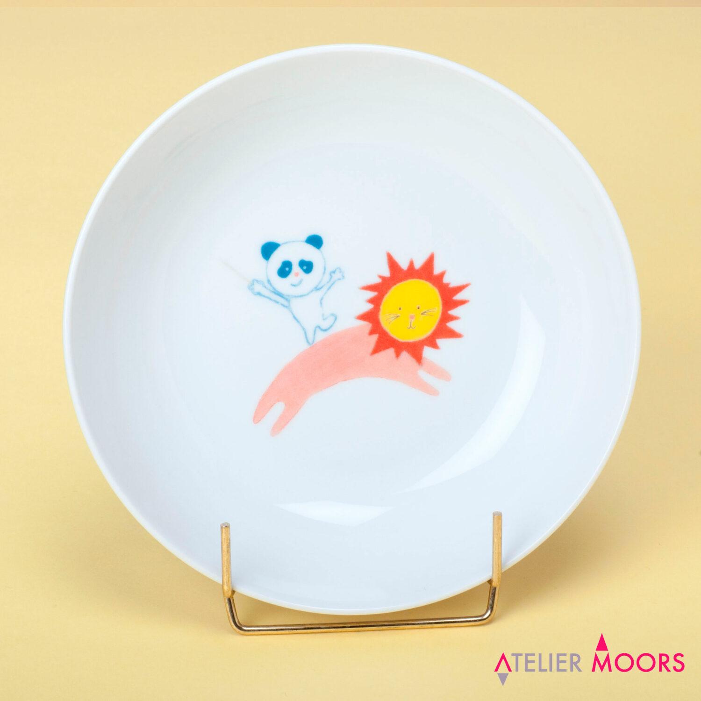 assiette porcelaine panda circus atelier moors