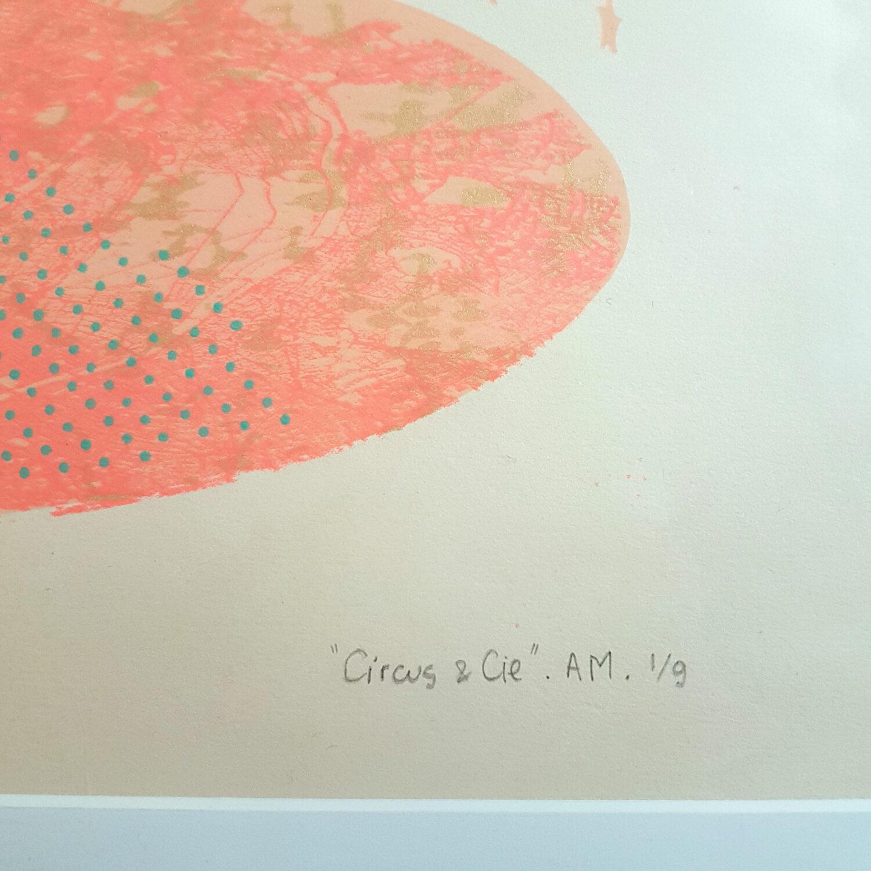 Circus & Cie 1 - Sérigraphie unique Atelier Moors