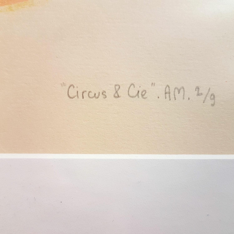Circus & Cie 2 - Sérigraphie unique Atelier Moors