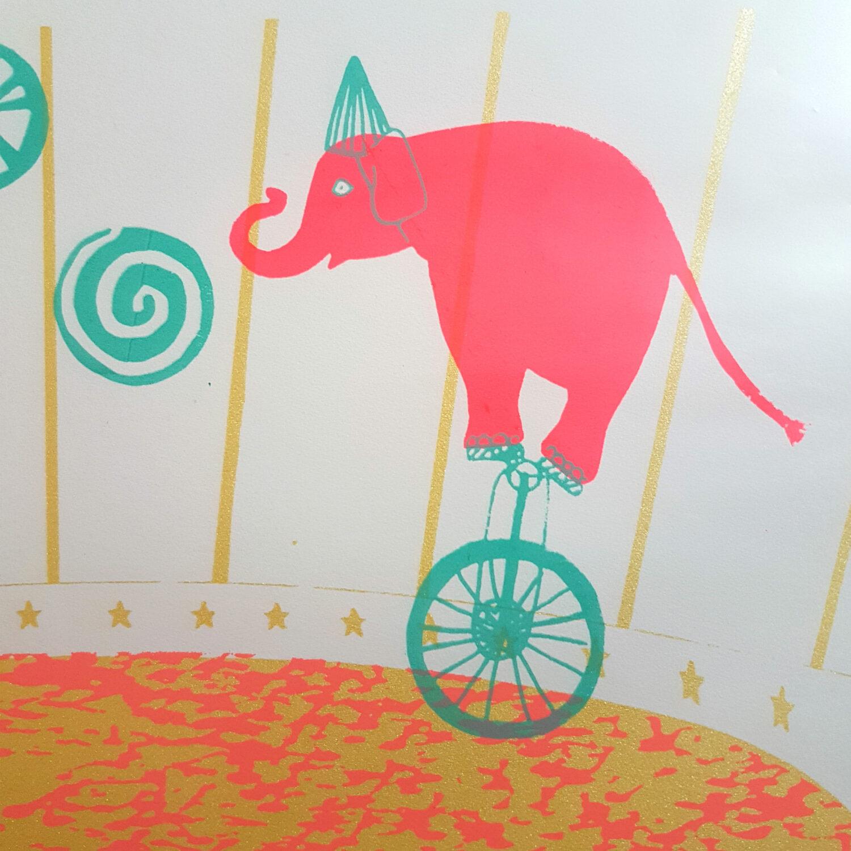 Circus & Cie 4 - Sérigraphie unique Atelier Moors