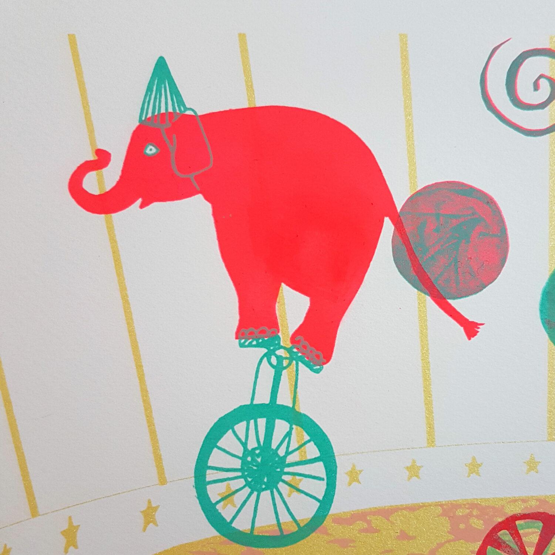 Circus & Cie 5 - Sérigraphie unique Atelier Moors