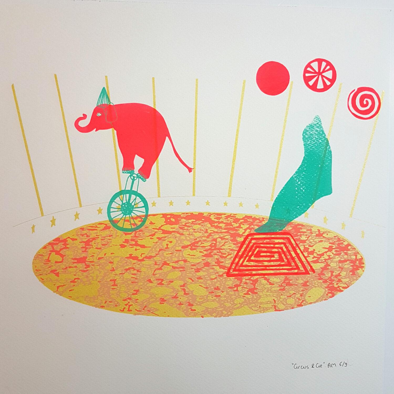 Circus & Cie 6 - Sérigraphie unique Atelier Moors
