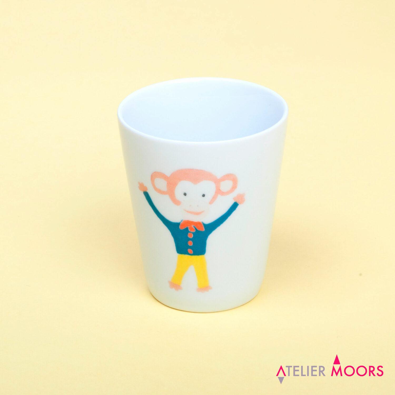 verre porcelaine singe circus atelier moors