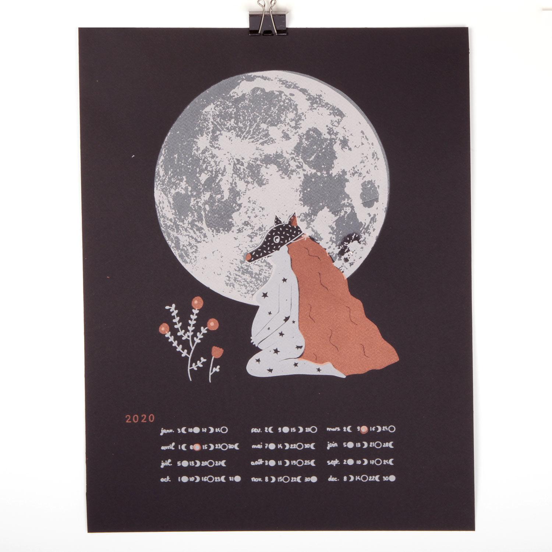 Calendrier lunaire 2020 Atelier Moors