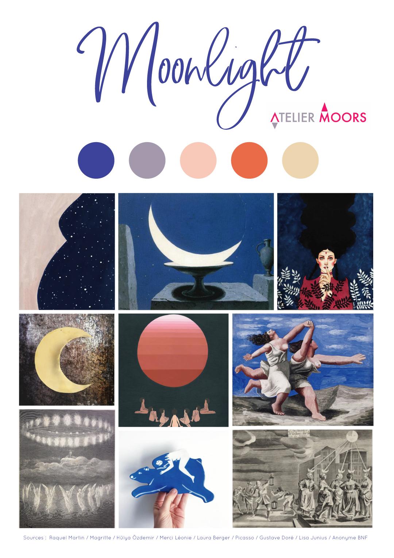 Moodboard Moonlight Atelier Moors