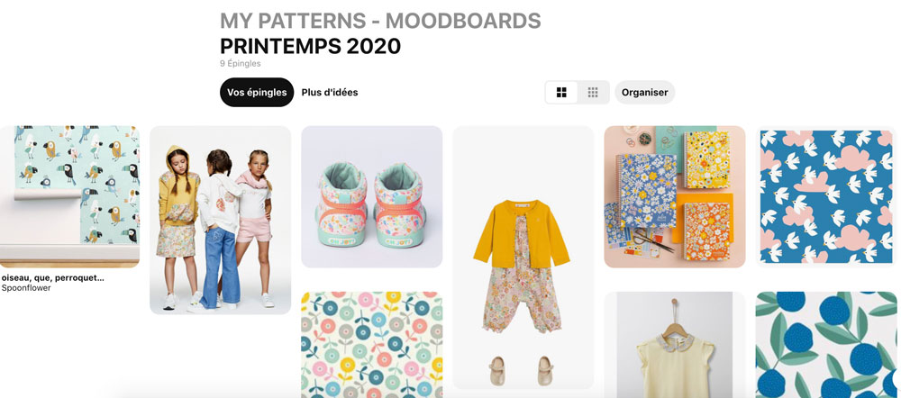 tableau pinterest moodboard printemps 2020 atelier moors