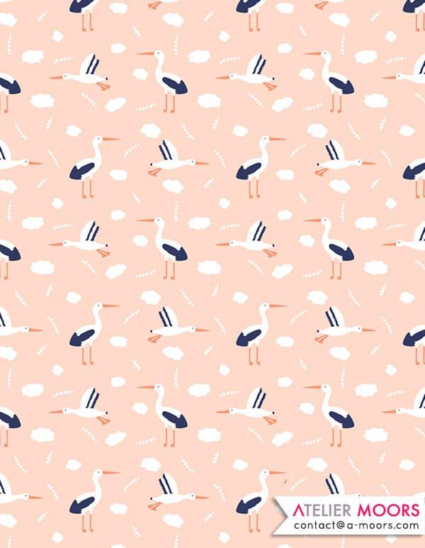 Les cigognes de Madrid _ Atelier Moors pattern